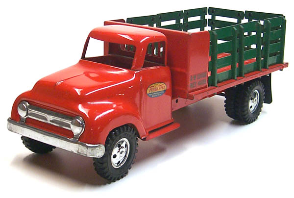3rd view of a 1955 Tonka Lumber Stake Truck Number 0860-5