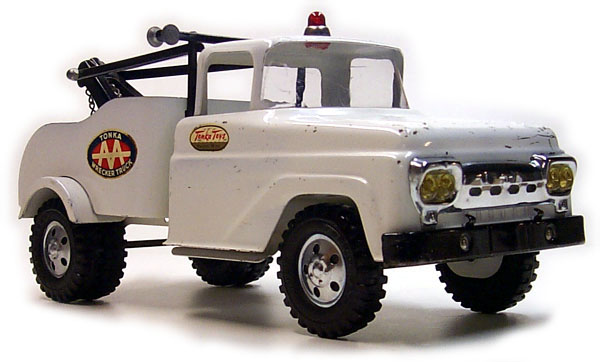 Front View of a 1958 Platform Stake Utility Truck Number 03
