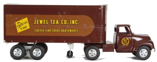 1955 Tonka Toys Jewel Tea Co, Private label Semi truck and trailer