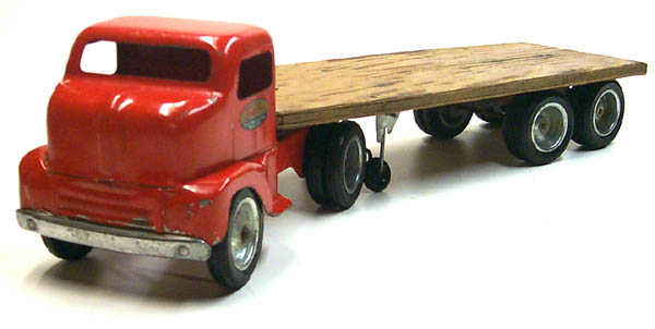 1953 No 575 Tonka Logger Flat Bed Truck and Trailer