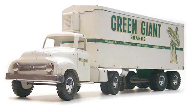 "Tonka Toys N0.650-4 ""Green Giant"" transport Semi Truck"